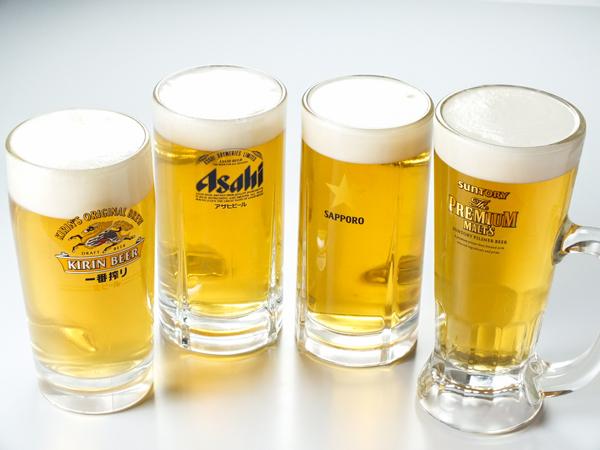 ホテルユニオンの屋上ビアガーデンは国産4大生ビール「一番搾り」「スーパードライ」「黒ラベル」「ザ・プレミアムモルツ」が飲み放題!