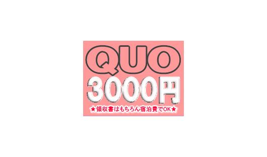 QUOカード3000円が付いてる!