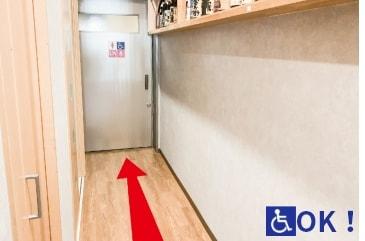 ④廊下正面の入口は自動ドア♪ (通路幅900mm)
