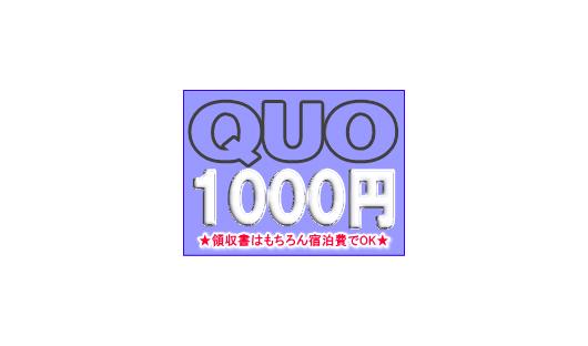 QUOカード1000円が付いてる!