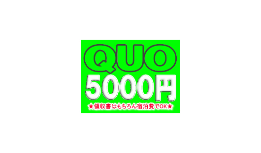 QUOカード5000円が付いてる!