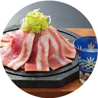 名物!桜島溶岩焼き(黒豚カルビ肉)